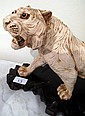 Chinese figure of a tiger on stand 40cms long