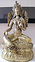 Fine Chinese Gilt figure of Green Tara