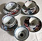 Antique Chinese Imari wine cups & saucers (15)