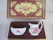 Royal Crown Derby boxed porcelain jug & bowl