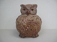 Large studio pottery figure of an Owl