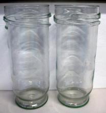 Pair large art glass vases 50.5cms Ht