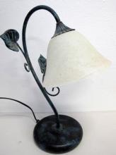 Italian glass table lamp 38cms Ht