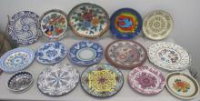 Fifteen Italian and German ceramic plates largest 30cms Dia