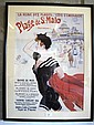 Framed French vintage poster of St.Malo