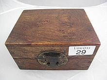 Chinese Huang huali box, the top with attractive
