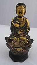 Chinese gilded small Buddha 9.8cms Ht