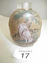 Chinese inside painted snuff bottle, decorated