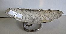 Antique Chinese silver lotus form dish makers mark