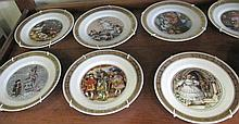 Twelve Royal Copenhagen porcelain display  plates