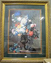 Large gilt framed Flower still life print 85cms x