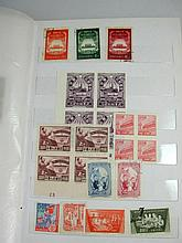Folder of vintage Chinese stamps