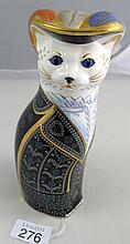 Rare Royal Crown Derby Pearly Queen cat 19cms Ht