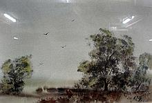 Lee Elvy Australian watercolour Landscape with