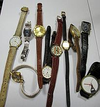 Quantity various watches to bag