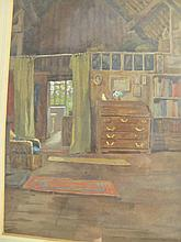 Trump English 1768-1850 watercolour Interior
