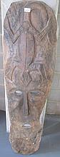 Early Sepik River carved wood panel130cms x 39cms