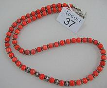 String Coral beads