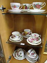 Assorted vintage cups & saucers Royal Abert etc