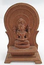 Vintage Chinese Sandalwood Carving Buddha