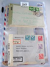 Collection of WW2 censored military stamp covers