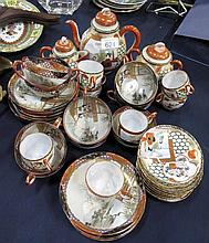 Vintage Japanese eggshell tea sets