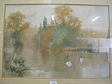 Edward J Duval English 19thC large watercolour