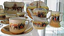 Royal Doulton Coaching Scenes tea service