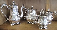 Vintage EPNS four piece tea & coffee service