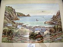 T.H.Victor watercolour Lamorna signed and titled