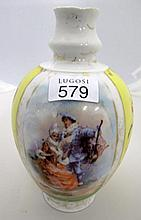 19thC French porcelain vase