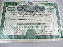 Collection of stock certificates