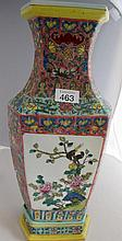 19thC Chinese large famille rose porcelain vase