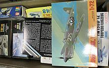 Box of model kit planes