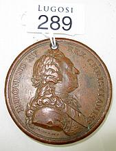 Antique copper medal dated