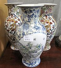 Three Chinese porcelain vases 31.5cms Ht