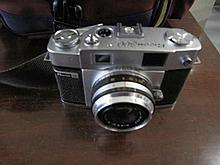 Ricoh 300 film camera with flash & bag