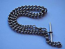 Antique sterling silver fob chain weighs 68gms