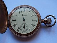 Waltham USA antique plated pocket watch works