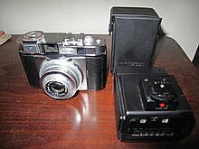 Iloca German vintage camera with flash & case
