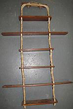 Nautical rope form ladder shelf 94cms Ht