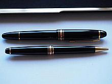 Mont Blanc cased fountain pen and ballpoint