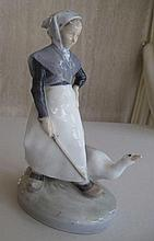 Royal Copenagen porcelain The Goose Girl 18.6cms H