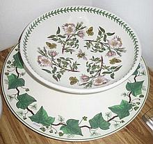 Wedgwood large Ivy platter with Port Meirion The Botanic Garden bowl 33cm d