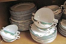 Royal Worcester Connaught fine porcelain dinner service for eight includes