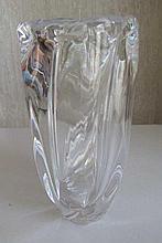 Orrefors crystal vase measures 20.5cm high