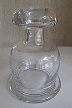Modern crystal ships decanter 20cm high