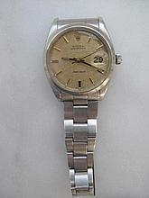Rolex Daydate stainless steel wristwatch working