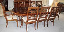 Drexel inlaid Cherrywood extension dining table
