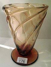 Webb signed amber glass vase